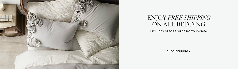 free shipping on all bedding