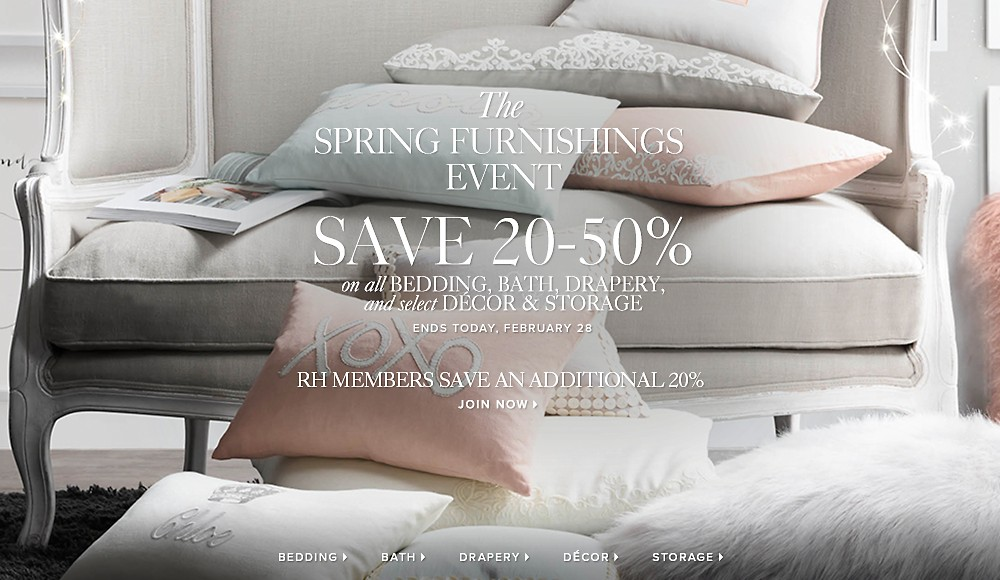 spring furnishings event