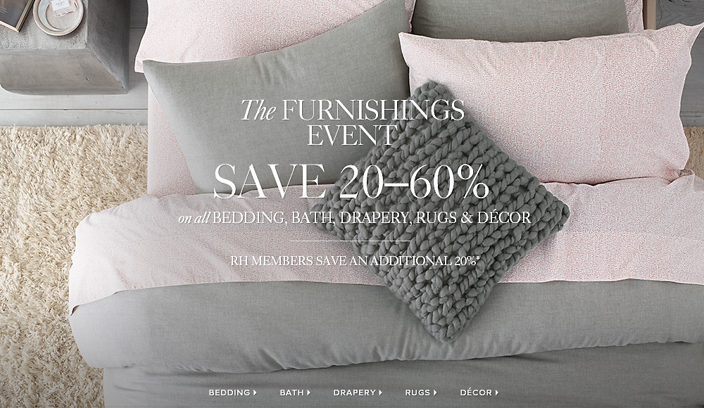 Save 20-60% at the Furnishings Event