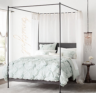 Iron Four Poster Bed caleigh iron canopy bed