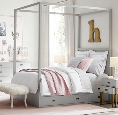 & Avalon Storage Canopy Bed