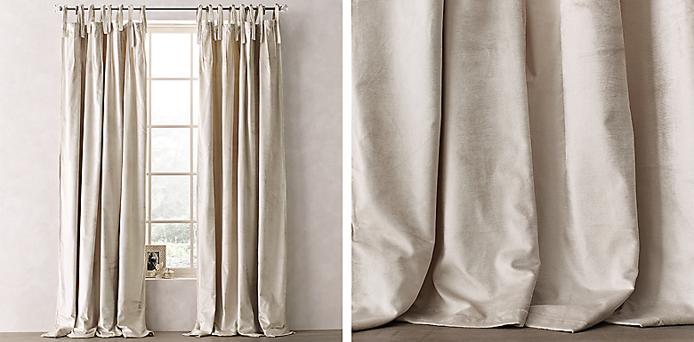 through design home tie textured drape cotton curtains white top see drapes ideas