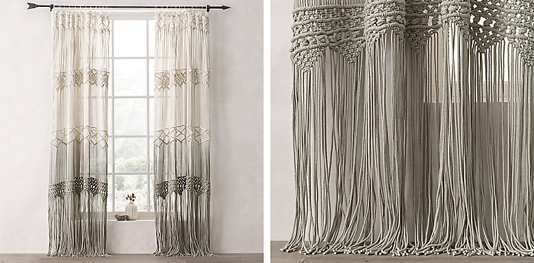 Ombre Macrame Drapery Collection