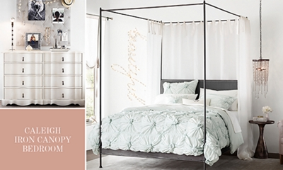 Caleigh Iron Canopy Bedroom & Caleigh Iron Canopy Bedroom | RH TEEN