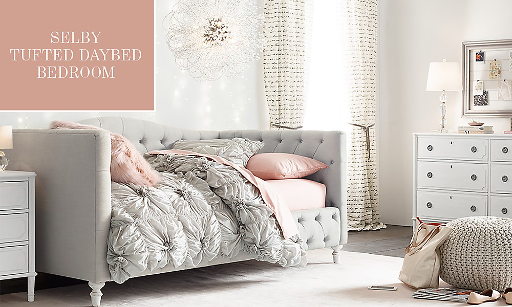 Selby Tufted Daybed Bedroom - Selby Tufted Daybed Bedroom RH TEEN
