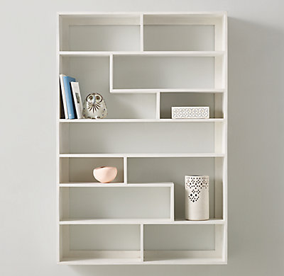 Geometric Large Display Shelf White
