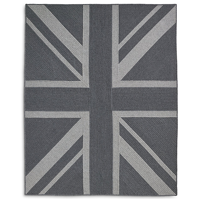 Union Jack Braided Wool Rug