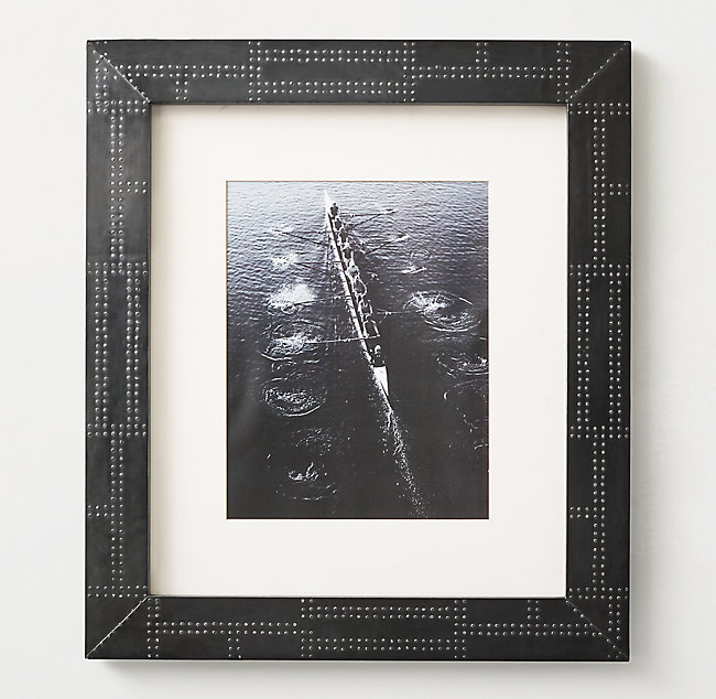 Industrial Metal-Wrapped Frame - Iron