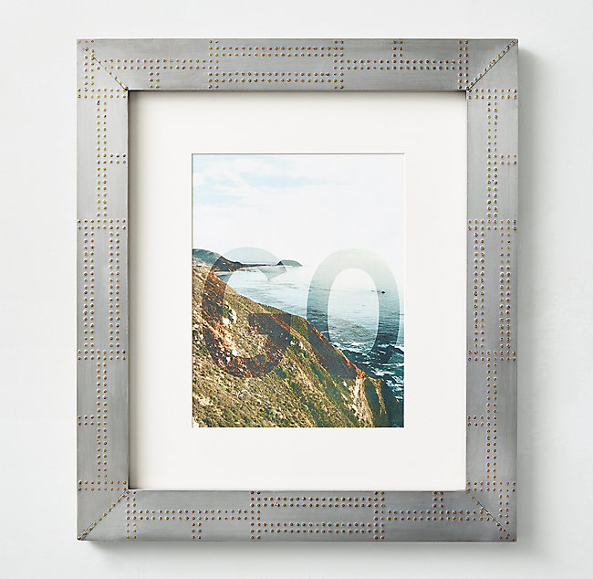 Industrial Metal-Wrapped Frame - Pewter