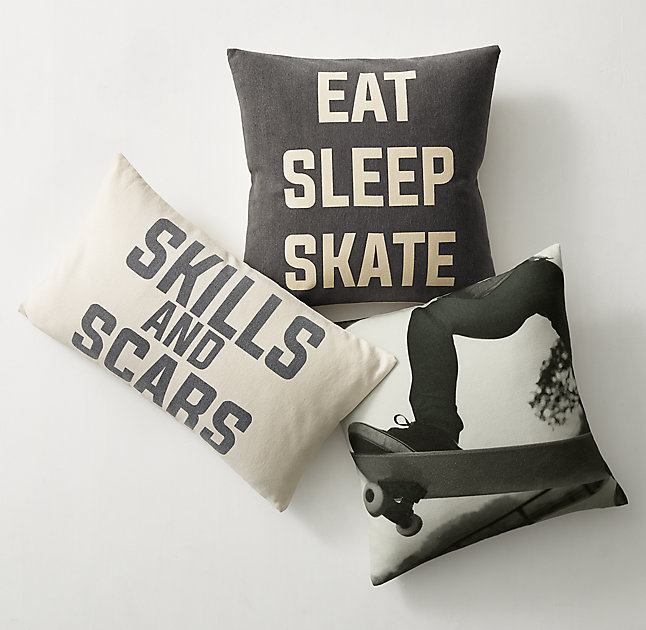 Half-Pipe Pillow Cover & Insert
