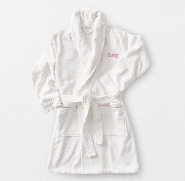 order online cheap price moderate cost Contrast Piped Bath Robe for Her