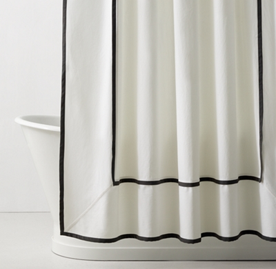 Framed Faille Shower Curtain