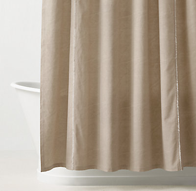 Distressed Canvas Shower Curtain