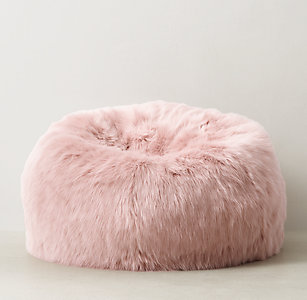 5b0389d238 Kashmir Faux Fur Bean Bag - Dusty Rose