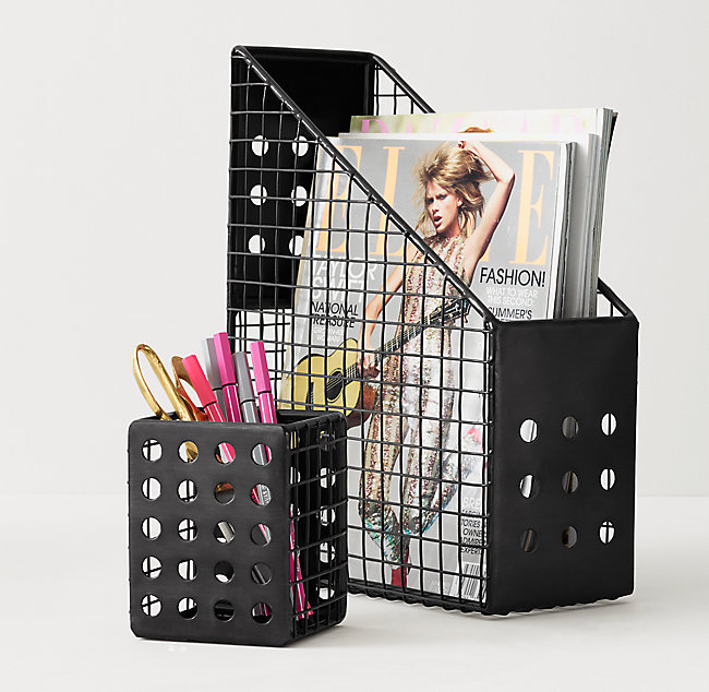 Enjoyable Perforated Metal Desk Accessories Iron Home Interior And Landscaping Ferensignezvosmurscom