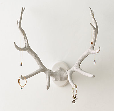 Antler Jewelry Rack White