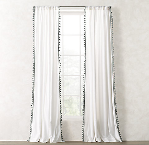 Tassel Trimmed Voile Drapery Collection