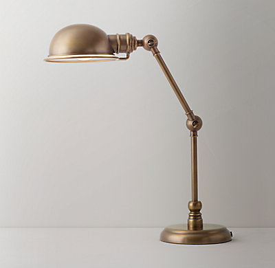 Academy task table lamp antique brass aloadofball Gallery