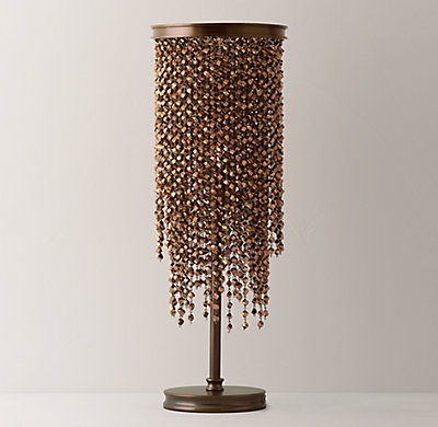 Athena Crystal Table Lamp   Copper