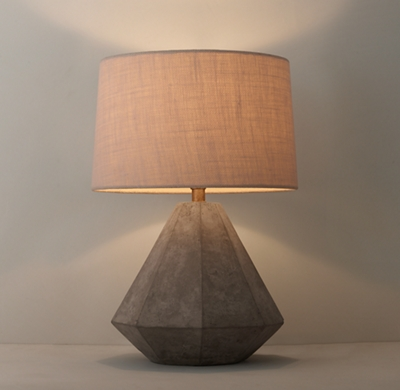 Genial Shown With Large Burlap Tapered Drum Shade (sold Separately).