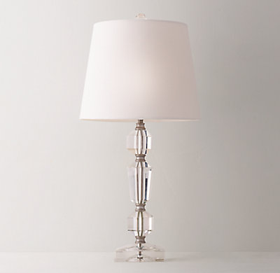 Grace crystal table lamp with shade clear