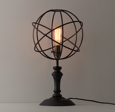 Iron Sphere Table Lamp Table Design Ideas