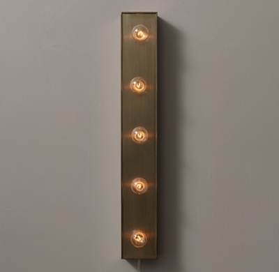 Wall Mounted Light Strip Antique Pewter