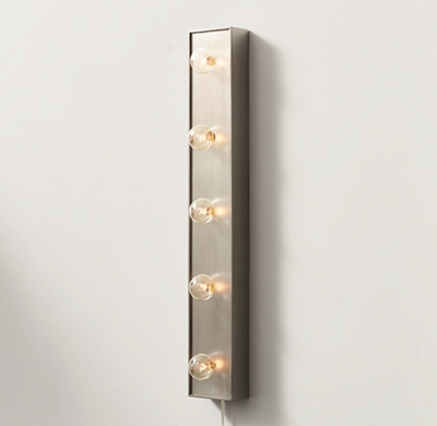 Wall-Mounted Light Strip - Antique Pewter
