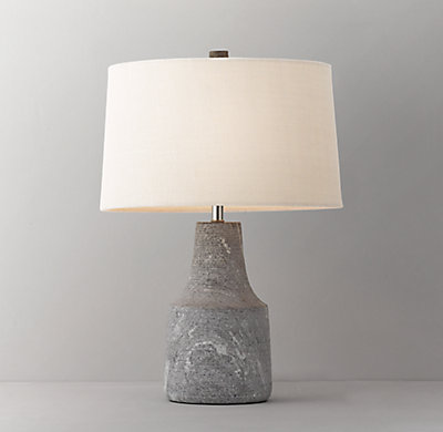 Quarry table lamp base