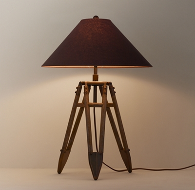 vintage surveyor 39 s tripod table lamp base. Black Bedroom Furniture Sets. Home Design Ideas