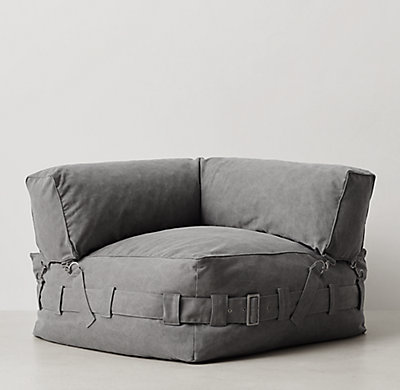 Cargo lounge corner chair grey for Chair for boys room