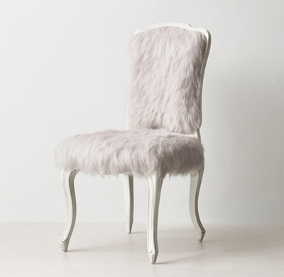 Sophie Kashmir Faux Fur Desk Chair