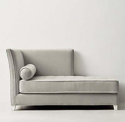 : tufted velvet chaise - Sectionals, Sofas & Couches