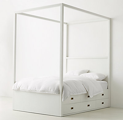 Avalon 6 Drawer Storage Canopy Bed