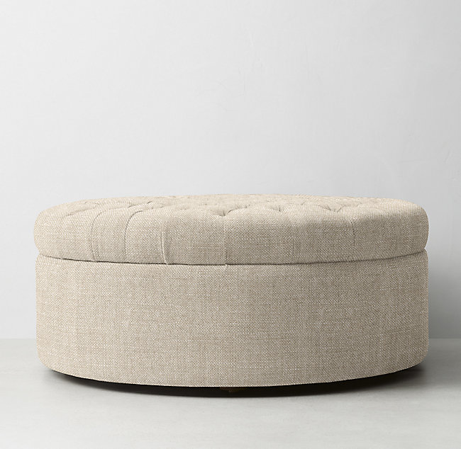 Prime Tufted Large Round Storage Ottoman Caraccident5 Cool Chair Designs And Ideas Caraccident5Info