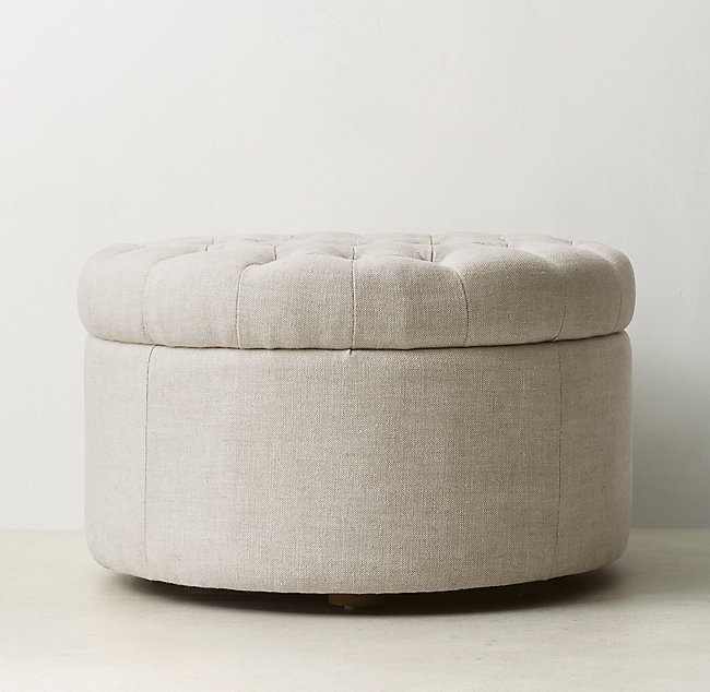 Swell Tufted Round Storage Ottoman Gmtry Best Dining Table And Chair Ideas Images Gmtryco