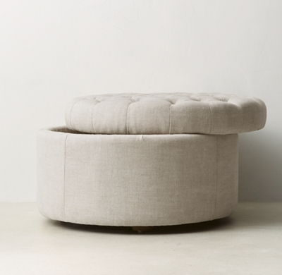 Awesome Tufted Round Storage Ottoman