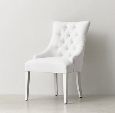 Shown In White Belgian Linen
