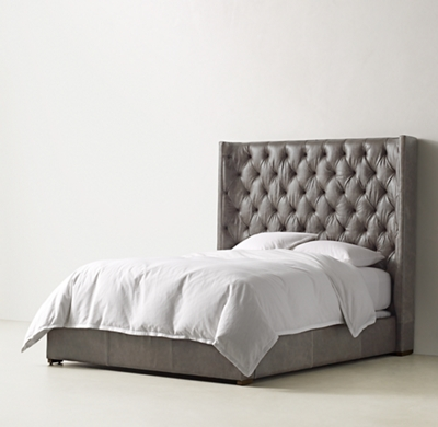 Zadie Tufted Leather Bed