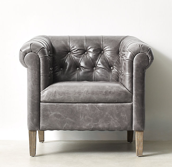 Pleasant Paige Tufted Leather Tub Chair Weathered Oak Ncnpc Chair Design For Home Ncnpcorg