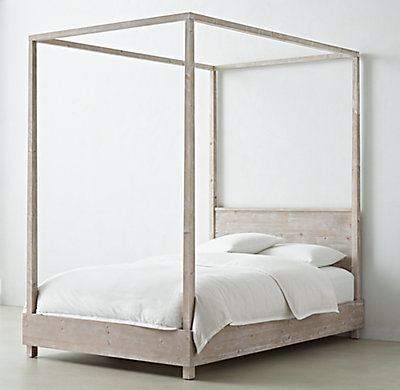Callum Platform Canopy Bed With Headboard