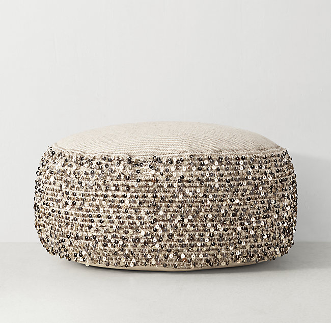 Groovy Moroccan Sequin Pouf Pdpeps Interior Chair Design Pdpepsorg