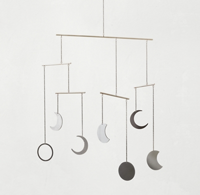 Moon Phase Mobile Pewter