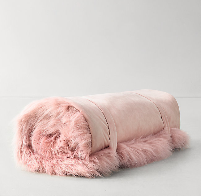 52042ddaad38 Kashmir Faux Fur Hooded Sleeping Bag - Dusty Rose. COLOR PREVIEW  UNAVAILABLE. Alternate view 1 ...