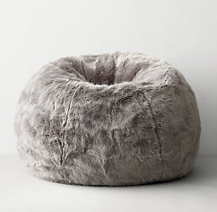139b62d7cc Luxe Faux Fur Bean Bag - Fog
