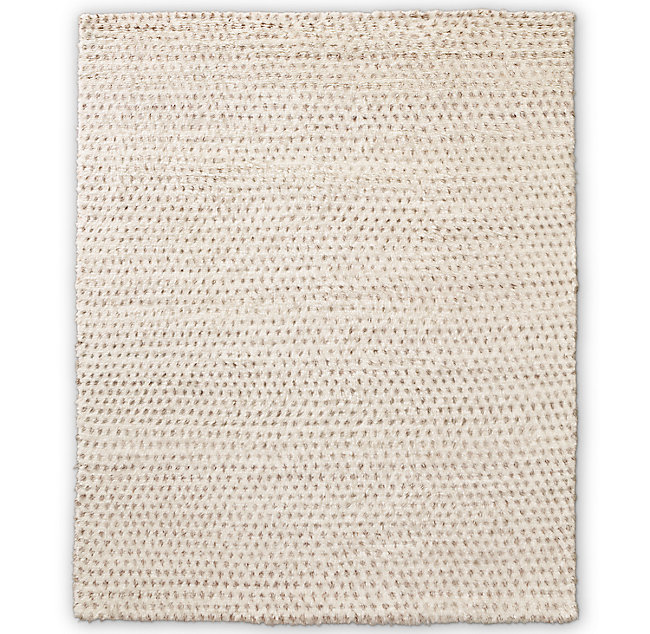 Dot Hand-Knotted Wool Shag Rug